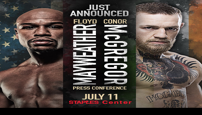 Mayweather vs McGregor World Tour Kicks Off in Los Angeles, Tuesday