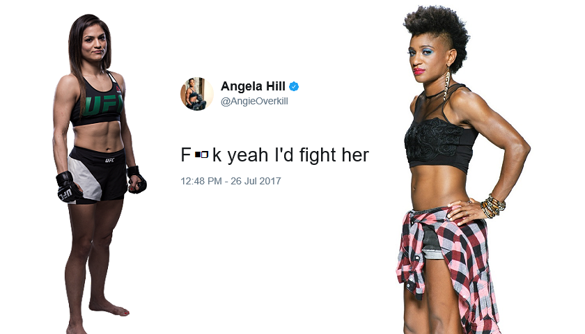 "Angela Hill on Cynthia Calvillo: ""F**k yeah, I'd fight her"""