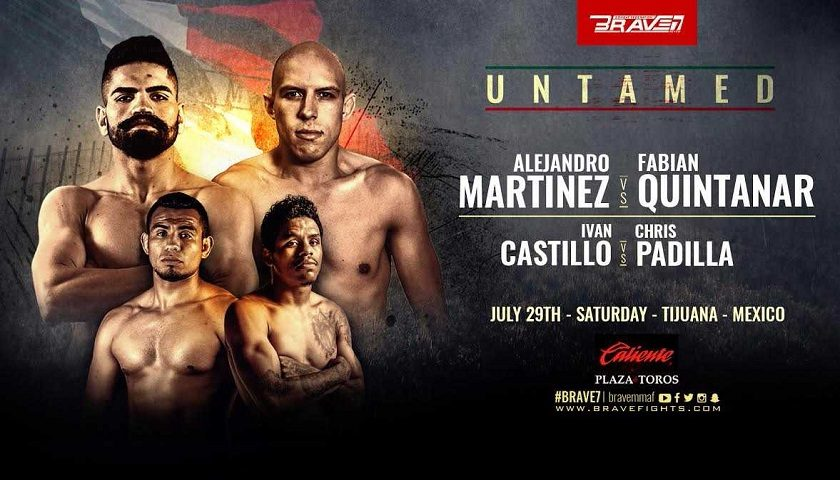 Full Fight Card finalized for Brave Combat Federation's debut in Mexico