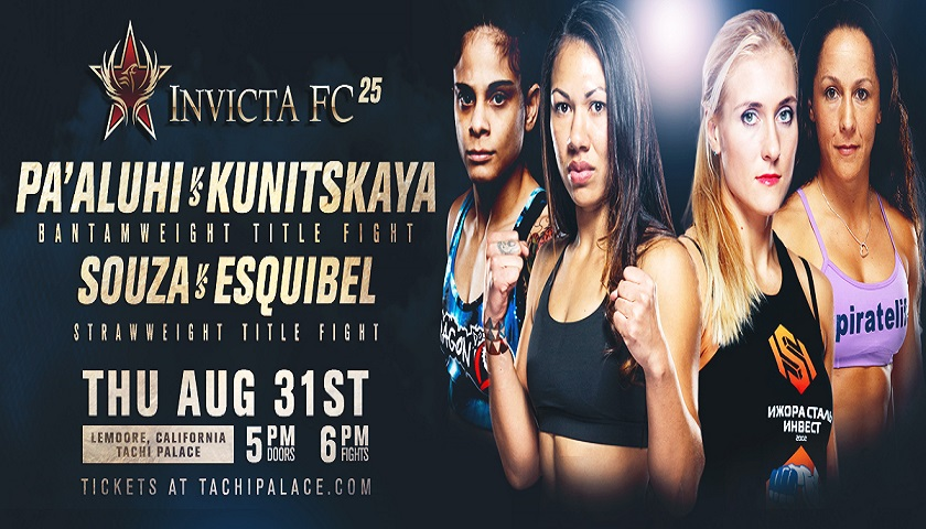 Two Championship Bouts Headline Invicta FC 25 in California
