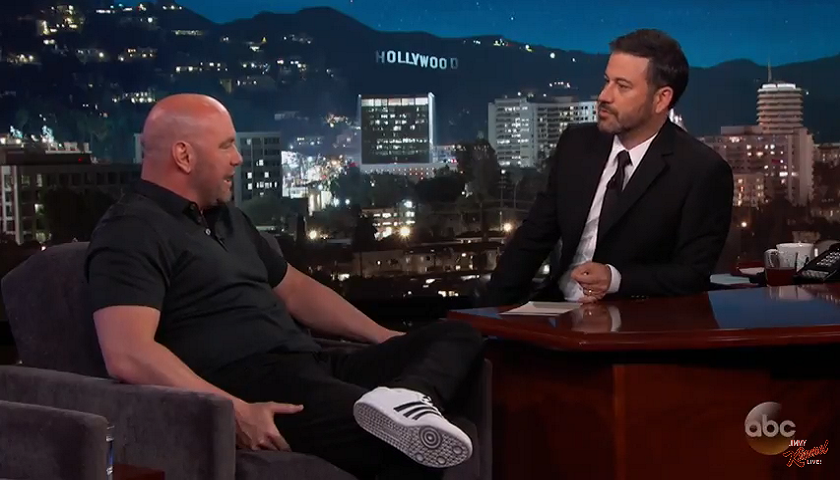 UFC President Dana White on Jimmy Kimmel - Will Donald Trump attend Mayweather vs. McGregor?
