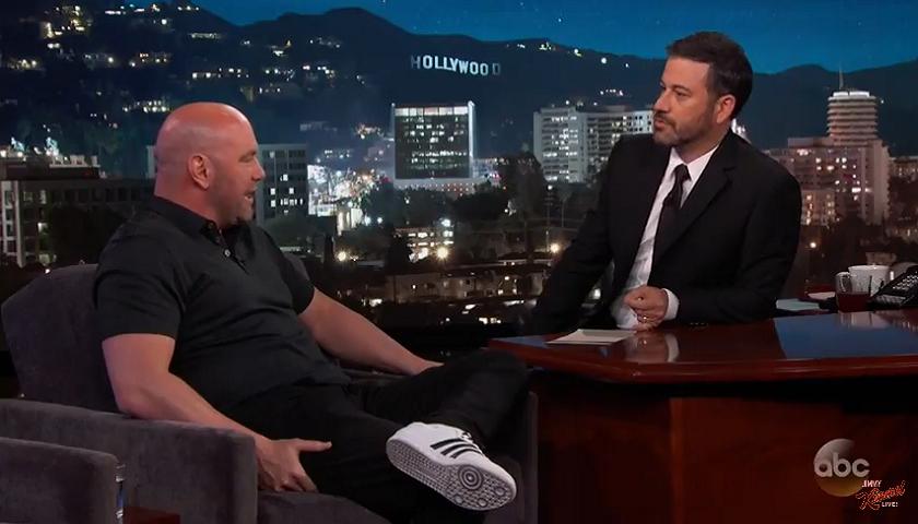 UFC President Dana White on Jimmy Kimmel - Will Donald Trump attend Mayweather vs. McGregor?