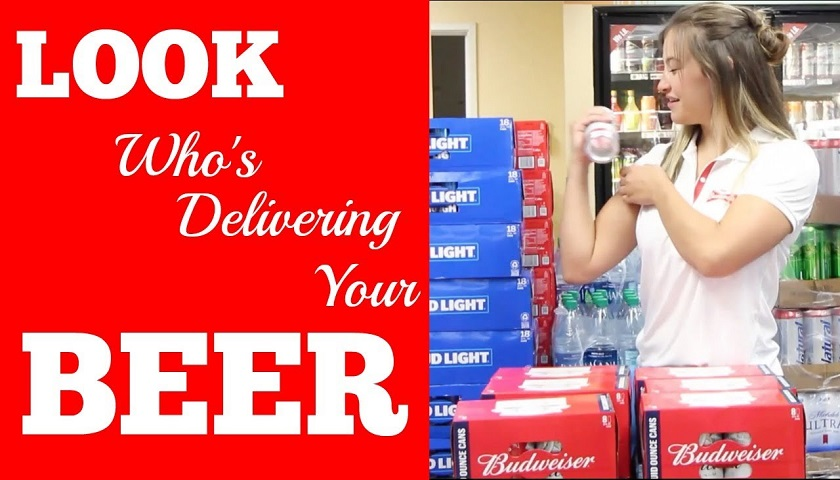 WATCH: Miesha Tate Becomes A BEER Delivery Driver!