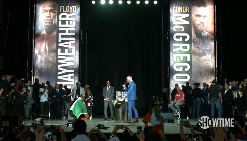Conor McGregor brings his A-Game in Toronto, threatens Mayweather