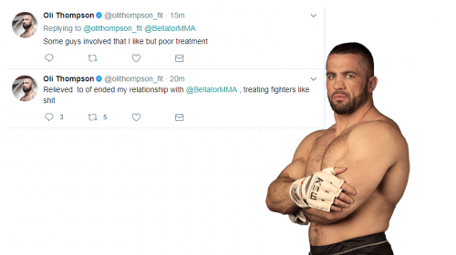 Oli Thompson: Relieved to end relationship with Bellator, treating fighters like s**t