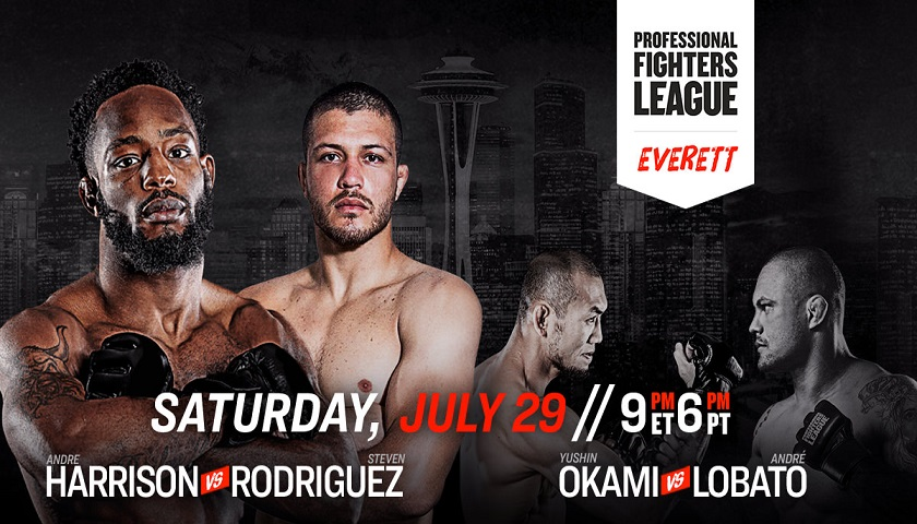 WATCH: Professional Fighters League: Everett Preliminary Bouts - FREE - 6 p.m. EST