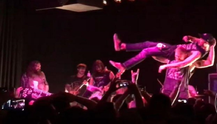 WATCH: Josh Barnett Tosses Fans Off Stage At Every Time I Die Concert