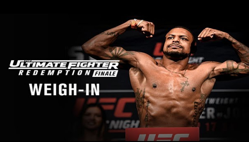 LIVE TUF 25 Finale weigh-in results at noon, ceremonial video 7 pm. EST