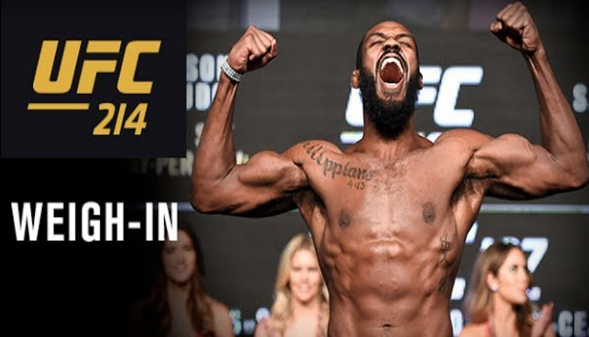 UFC 214 early weigh-in results, Noon EST, ceremonial weigh-in video, 8 pm EST