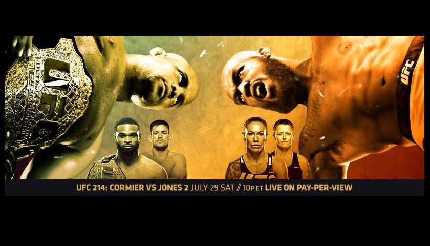 UFC 214 Results - Cormier vs. Jones 2, Woodley vs. Maia, Cyborg vs. Evinger