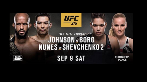 Demetrious Johnson, Amanda Nunes defend titles at UFC 215 in Edmonton