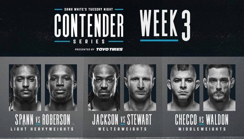 Dana White's Tuesday Night Contender Series – Week 3 Results