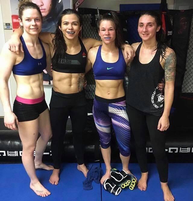 Kristy Wolterbeek, UFC strawweight Claudia Gadelha, Dakota Ferrone, and Keri Pini