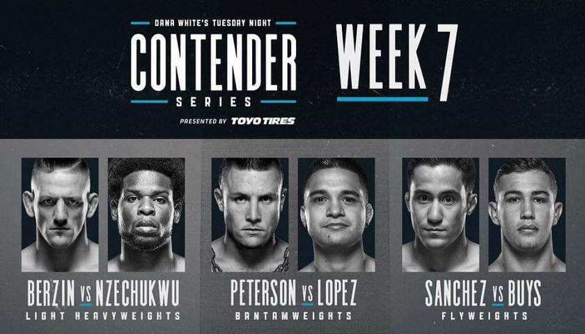 Dana White's Tuesday Night Contender Series Week 7 Results