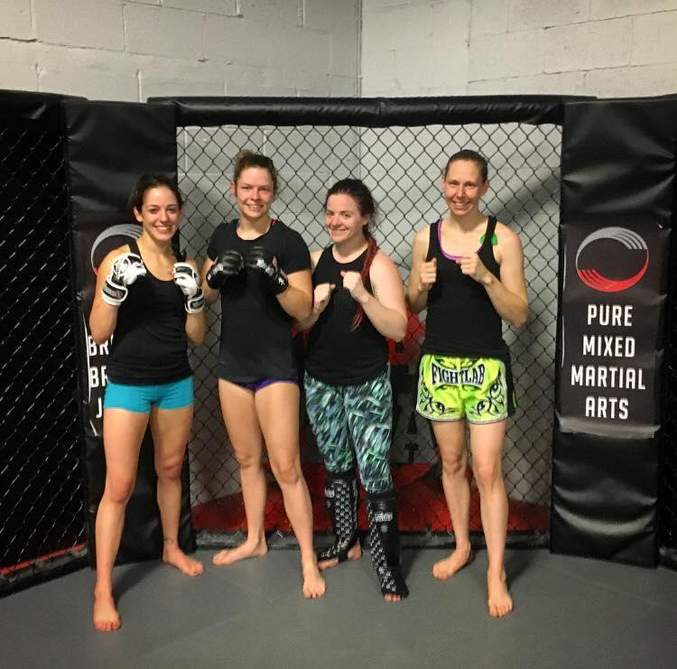Lindsey VanZandt, Kristy Wolterbeek, Marissa Jean Vanglahn at Pure MMA