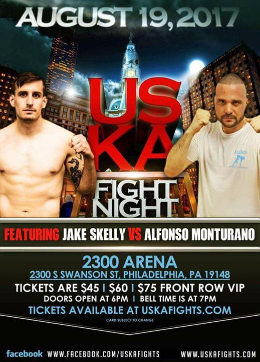 Jake Skelly, USKA Fight Night