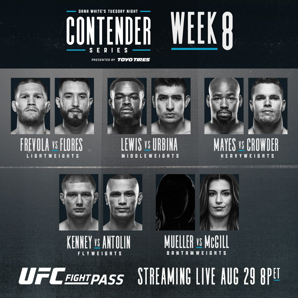 Dana White's Tuesday Night Contender Series Week 8 Results