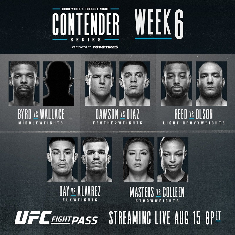 Dana White's Tuesday Night Contender Series - Week 6 Results