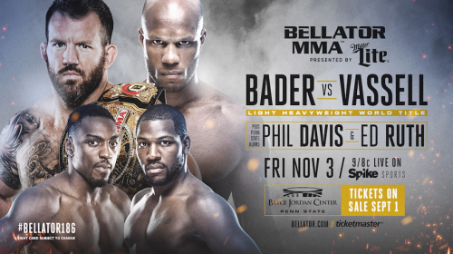 Penn State University hosts Bellator 186 - Bader vs. Vassell Title Bout