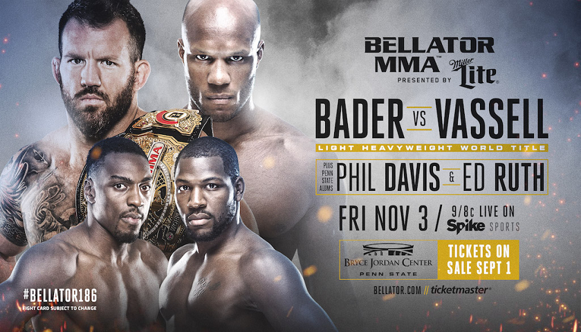Penn State University hosts Bellator 186 – Bader vs. Vassell Title Bout