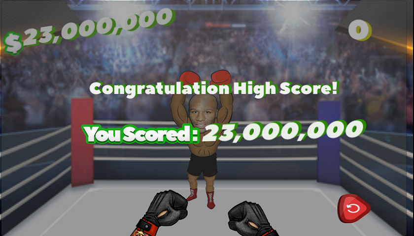 Before May-Mac, Play the Money Fight Game - Punch Justin Bieber