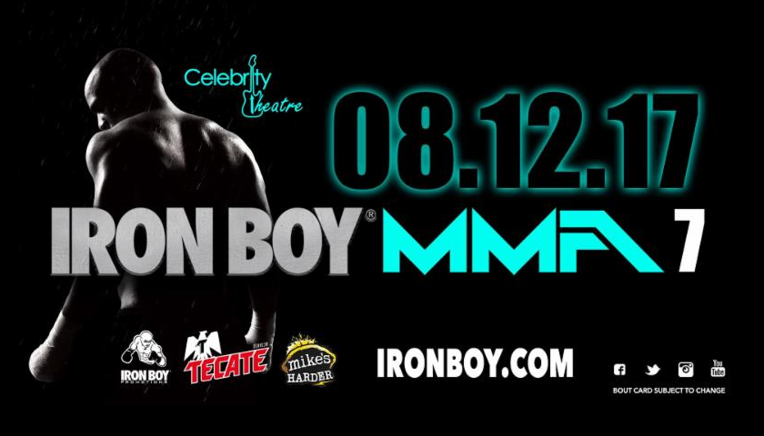 Iron Boy MMA 7 Live on Pay-Per-View August 12 from Phoenix