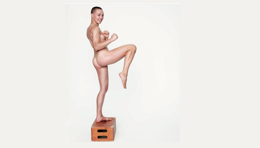 Rose Namajunas poses nude for Women's Health