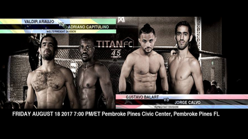 Titan FC 45 weigh-in Results – Valdir Araujo vs. Adriano Capitulino