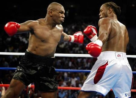 Mike Tyson and Lennox Lewis - 2002