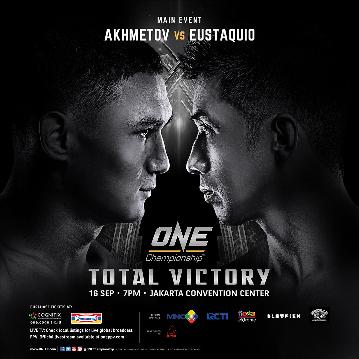 Full card announced for ONE Championship's return to Jakarta in September