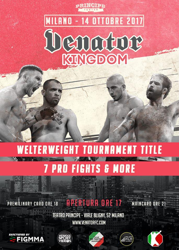 Venator FC welterweight title tournament