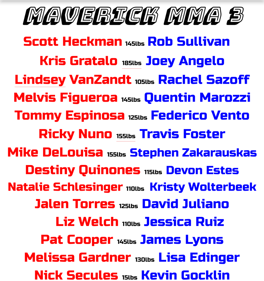 Maverick MMA 3 fight card