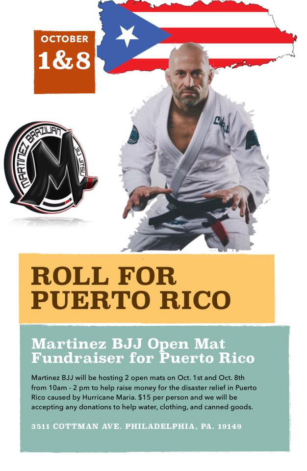 Will Martinez rallying BJJ/MMA community in hurricane relief effort for Puerto Rico
