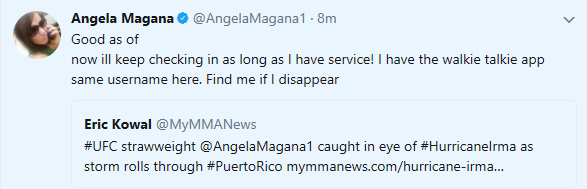 Angela Magana, Hurricane Irma