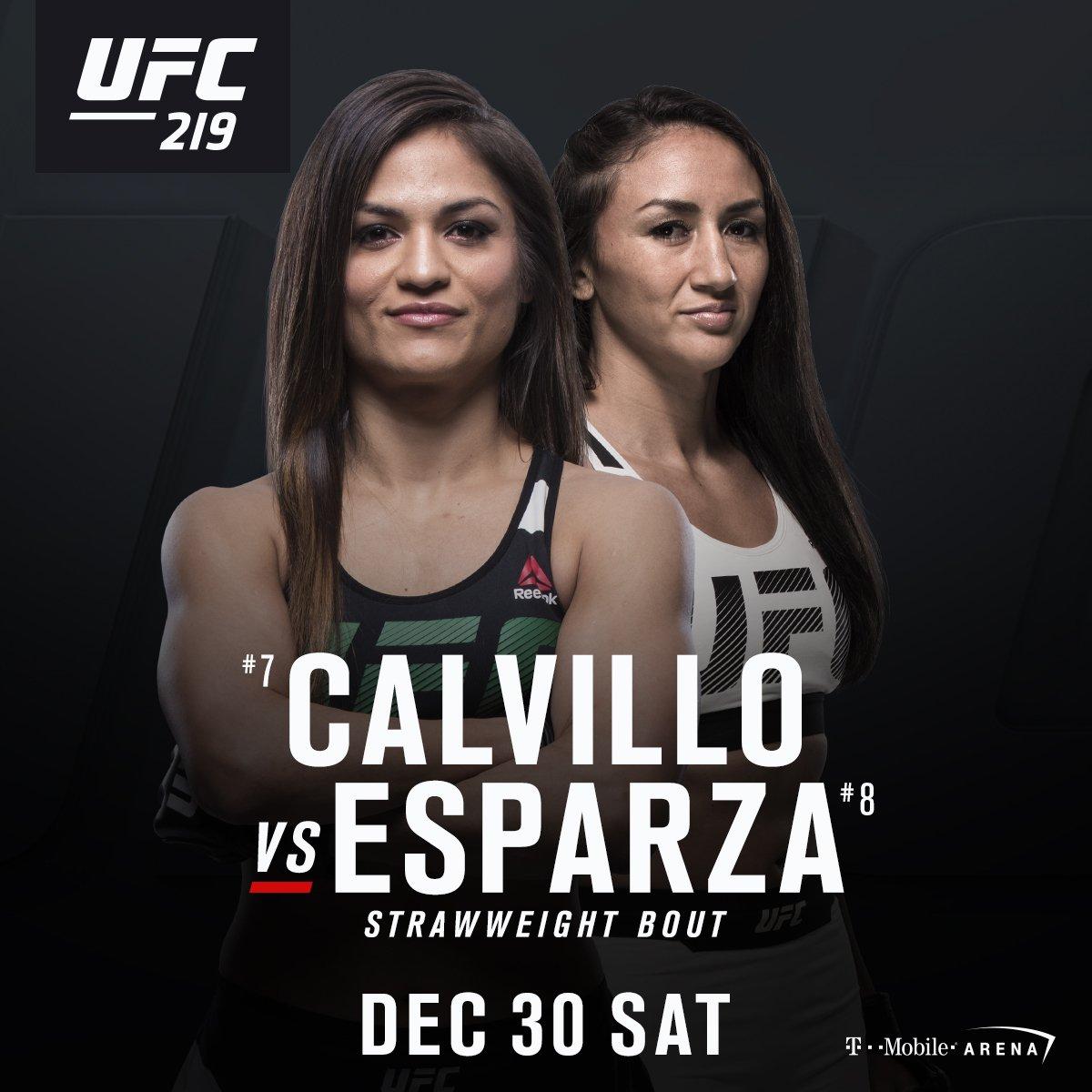 Cynthia Calvillo vs Carla Esparza, UFC 219