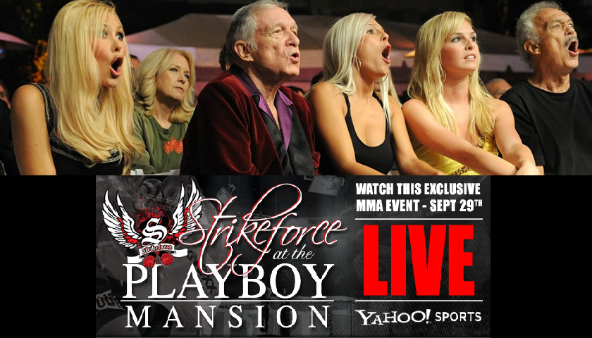 MMA at the Playboy Mansion 10 years ago today – September 29, 2007