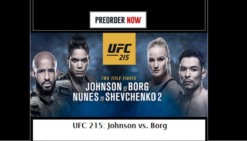 UFC 215 Live Stream – Johnson vs. Borg Pay-Per-View
