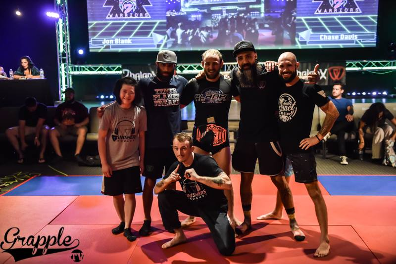 """Grace Gundrum and Jon """"Thor"""" Blank pictured with their coaches, Zach Maslany and JM Holland, and Richie and Geo Martinez. Photo by Grapple TV"""