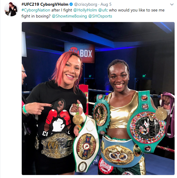 Cyborg and Claressa Shields