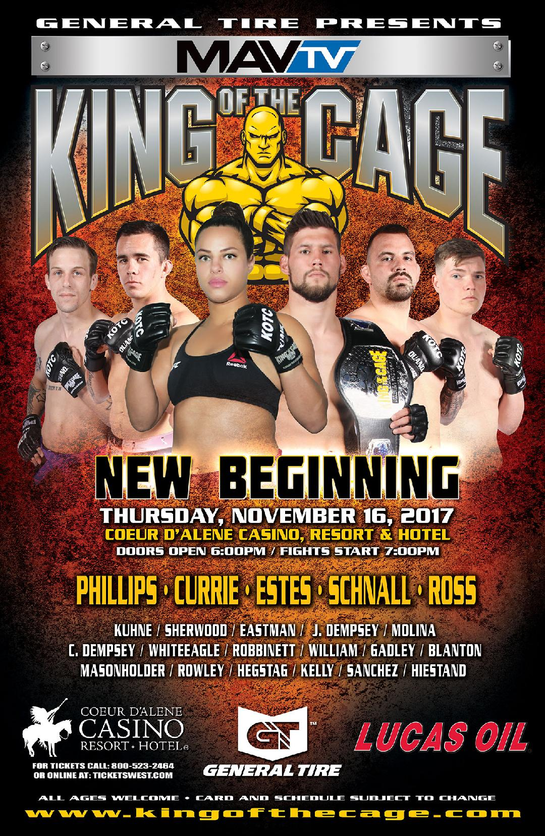 Liz Phillips vs Nikohl Johnson headlines King of the Cage even in Idaho