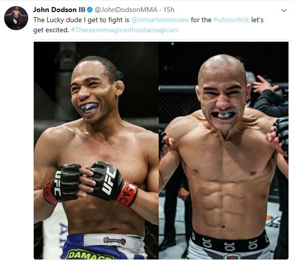 John Dodson vs Marlon Moraes