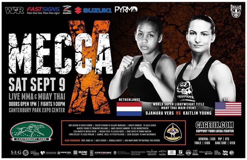 Mecca X Results - Live MMA & Muay Thai from Canterbury Park Expo Center