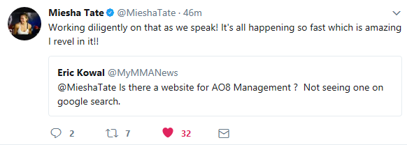 Miesha Tate, AO8 Management