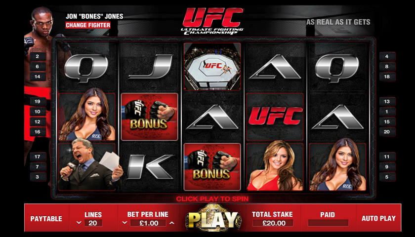 Review of the All New UFC Slot Machine