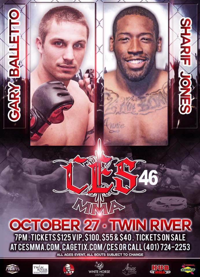 Sharif Jones, CES MMA 46