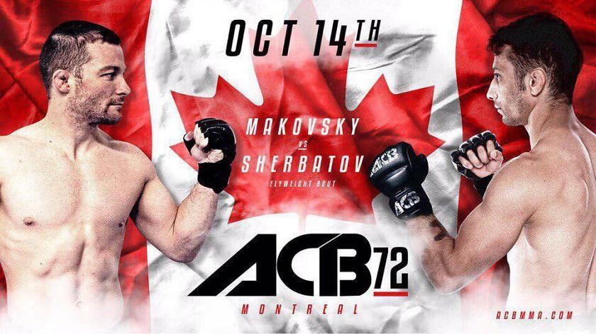 ACB 72 - Zach Makovsky vs. Yoni Sherbatov Free Live Stream