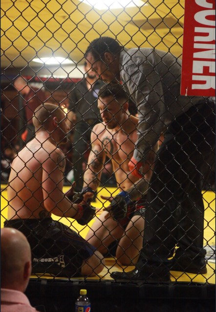 Collin Sharpe and Ryan Rizco respect one another after fight at PA Cage Fight 29