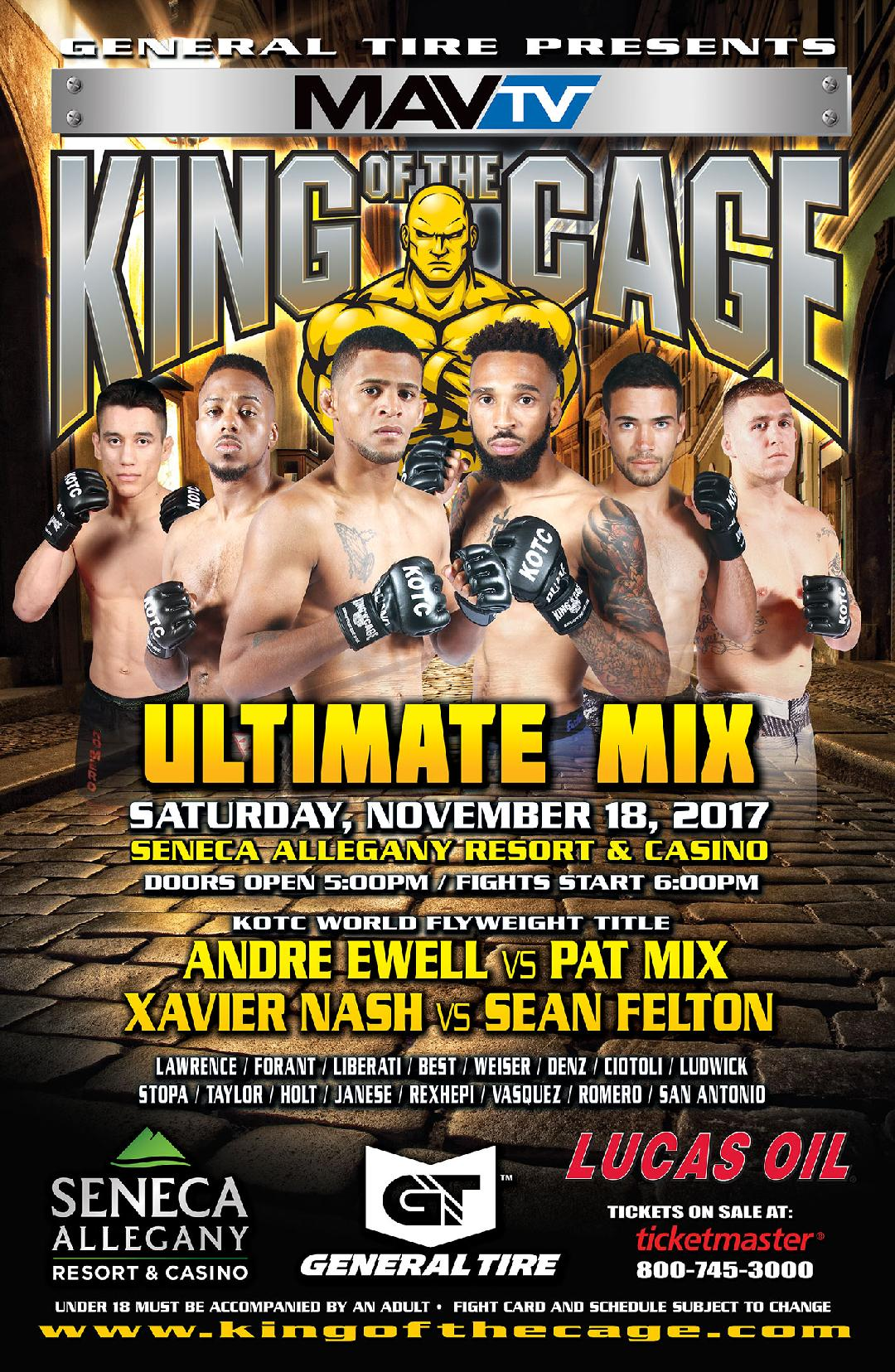 Pat Mix meets Andrew Ewell in New York for vacant King of the Cage flyweight title