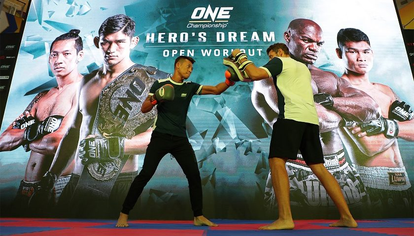 ONE Championship hosts open workouts for athletes at ONE: Hero's Dream in Yangon