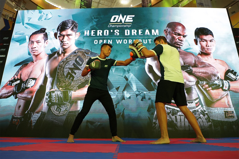 ONE CHAMPIONSHIP HOSTS OPEN WORKOUT FOR ATHLETES AT ONE: HERO'S DREAM IN YANGON
